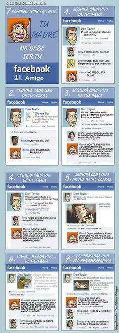 Por que no debes aceptar a tu madre como amiga en Facebook :)