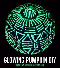 DIY Pumpkins : The Swell Life: Glow in the dark Pumpkin DIY Tutorial