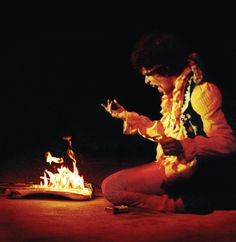Jimi at Monterey 1967 This blew the audience minds.....:)