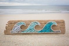 Wave Driftwood String Art by CoastalCreationsNJ on Etsy