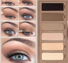 Natural Smokey Eye Makeup using Urban Decay Naked Basics