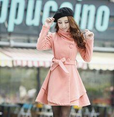 chaqueta de estilo coreano y elegante para las mujeres color rosada