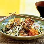 Lemongrass Shrimp over Rice Vermicelli and Vegetables (Bun Tom Nuong Xa) Recipe | MyRecipes.com