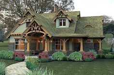 Browse cottage house plans, many with photos showing how great they look when built, in all kinds of shapes and forms. Which cottage home plan do YOU want to build? Storybook Homes, Storybook Cottage, Fairytale Cottage, Cottage House Plans, Cottage Homes, Rustic House Plans, Cottage Interiors, Cabin Plans, Cute Cottage