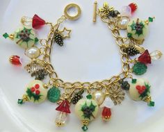 My Handcrafted Holiday/Christmas Charm Bracelet (4)