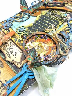 How to Create a Chipboard Steampunk Debutante Tag