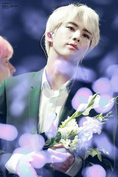 Handsome with flowers Jimin, Bts Jin, K Pop, Seokjin, Fansite Bts, Bts Love, About Bts, Worldwide Handsome, Shows