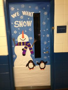 ideas for the gym door winter door decorating ideas d27 ideas