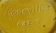 Roseville Pottery Reproductions - Identifying Roseville Repros: Another Fake Roseville Mark