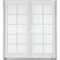Ashworth Professional Series 72 in. x 80 in. White Aluminum/Wood French Patio Door with Brass Hardware-PRO6068SP10LTIWBRS at The Home Depot