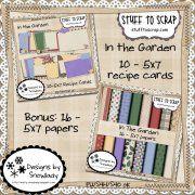 In the Garden: Recipe Cards Cookbook Ideas, Recipe Cards, Inspire Me, Card Ideas, Scrap, Paper, Garden, Projects, Recipes