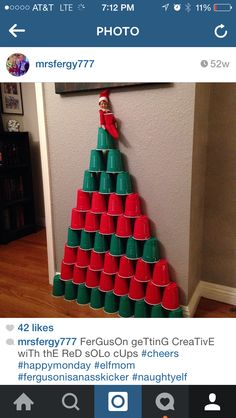 Ferguson getting festive with the solo cups!