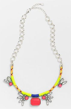 Robert Rose 'Crystal Bungee' Cluster Pendant Necklace available at #Nordstrom #jadore