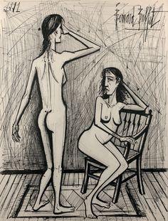 Bernard Buffet - Deux Femmes, 1991