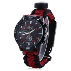 This Multi-Functional Paracord Watch is perfect for camping, fishing, hunting, or any outdoor activity. Great for any survivalist or minimalist. If you had a choice of one survival gear, this watch is