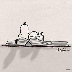 A book, a beagle , and bedtime.