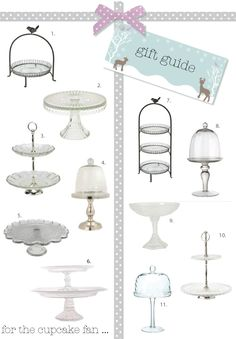Chic cake stands