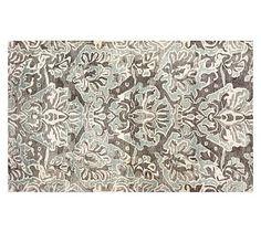 Aubrey Tufted Wool Rug, 8x10', Gray #potterybarn
