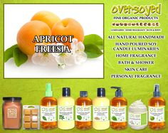 Apricot Freesia Product Collection - A hint of Spring freshness is found in this blend of bright freesia and apricot. #OverSoyed #ApricotFreesia #ExoticFruits #Exotic #Fruity #Fruit #Candles #HomeFragrance #BathandBody #Beauty