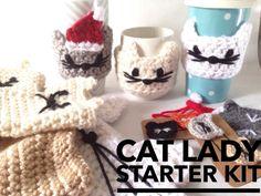 Cat Lady Starter Kit  Cat Lady Gift  Cat Lover by SunOverVegas