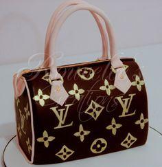Louis Vuitton handbag cake //  louis vuitton handbags //