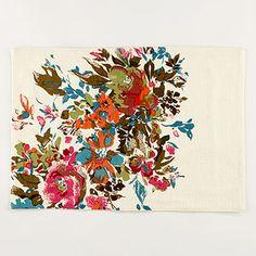 Gorgeous watercolor floral placemats.