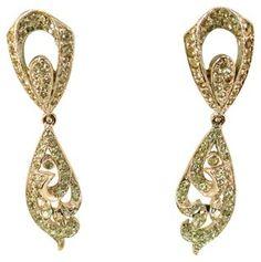 Panetta Rhodium Crystal Dangle Earrings