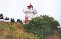 Pictou Island South Light, NS, CAN; Photo: Bob Crawford  Telephone: Canadian Coast Guard Notes: There have been three lighthouses on Pictou Island, located about 7.5 miles offshore, but the South Light is the only one remaining (the other two are skeleton towers). It served as the rear light of a range from 1951 to 1974; the front light was a skeleton tower on the breakwater.