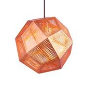 Modernist Tetris Pendant Light Copper Inspired by Tom Dixon Etch Pendant Light. Laser etched steel in a complex geometric tetrahedron pattern casts very interesting shadows and a Copper Ceiling, Copper Pendant Lights, Copper Lighting, Contemporary Pendant Lights, Pendant Chandelier, Globe Pendant, Ceiling Pendant, Pendant Lighting, Ceiling Lights