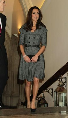 Kate attended a private viewing of the National Portrait Gallery's Lucian Freud exhibit