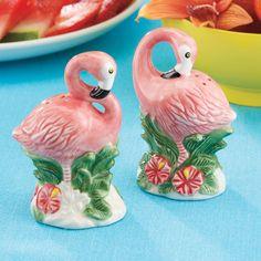 Pink Flamingos Salt and Pepper Set