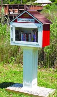 Oak Island little free library #littlefreelibrary