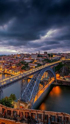 Most beautiful night cityscapes amazing mobile wallpaper Travel Sights, Places To Travel, Places To Visit, Travel Wallpaper, City Wallpaper, Mobile Wallpaper, Visit Portugal, Portugal Travel, Portugal Destinations