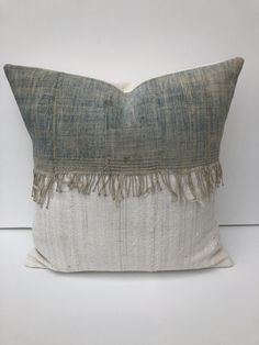 Herringbone Linen Pillow Grey Pillow Linen Pillow