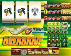 Fast, lucky and furious! Today you will feel the incredible speed of your victory. Play an awesome free slot machine by Saucify 'Overdrive' and get lots of excitement and huge winning chances. Do not waste your opportunity to win a racing cup!