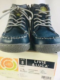 promo code b647d 05afc (eBay Sponsored) LIVIE   LUCA NIB size 8 Hi Top Shoes Boots Toro Navy.  Open. More information