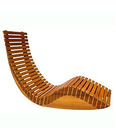Forest Stewardship Council Certified Eucalyptus Outdoor Rocking Lounger $499