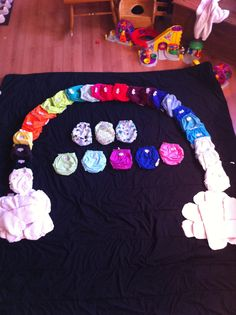 Stash shot cloth diapers inserts as clouds and diapers as a rainbow applecheeks