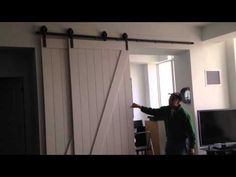 Bypass barn door system - YouTube