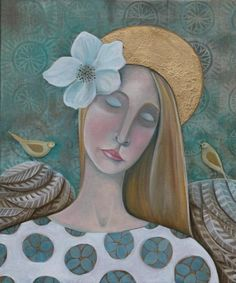 Almost An Angel, original oil painting on canvas £650.00