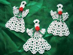 3 Beautiful Crocheted Angels