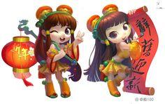 ArtStation - happy new year, ZhongYuan 100