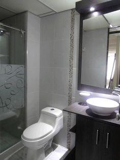 Remodelación y diseño   Enchape, diseño de mobiliario para el baño, diseño de froster para la puerta de vidrio templado... En ... pinned with Pinvolve - pinvolve.co