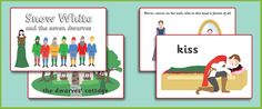 Snow White Story Sequencing Cards- Kiley sequencing story cards for Christmas