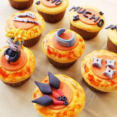 Best Cake Recipes, Cupcake Recipes, Cupcake Art, Cupcake Cakes, Bolo Do Naruto, Boys Bday Cakes, Naruto Birthday, Shuriken, Different Recipes