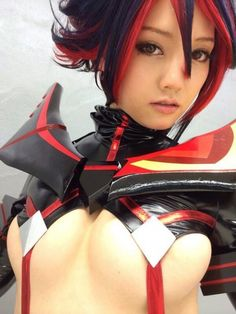 Kill la Kill cosplay - didnt think it was possible o.o... #Pincommander ATM