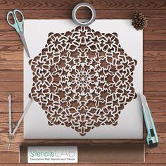 Mandala-Style Stencil For DIY Decor Projects - Geometric Pattern Stenc – StencilsLab Wall Stencils
