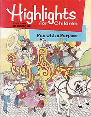 """Highlights"" magazine. A doctor's/dentist's office staple."