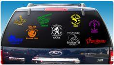 Car Window Decals|Custom|Fundraising|Vinyl|Youth Sports