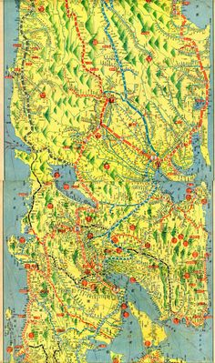 A 1911 map of japan including taiwan the early years of japanese a sightseers travel map of japan showing famous landmarks mountains seaside gumiabroncs Images